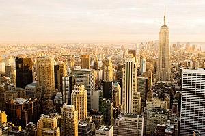 Egy amerikai nagyváros felülnézetből.