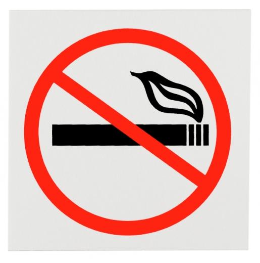 Egy dohányozni tilos tábla.