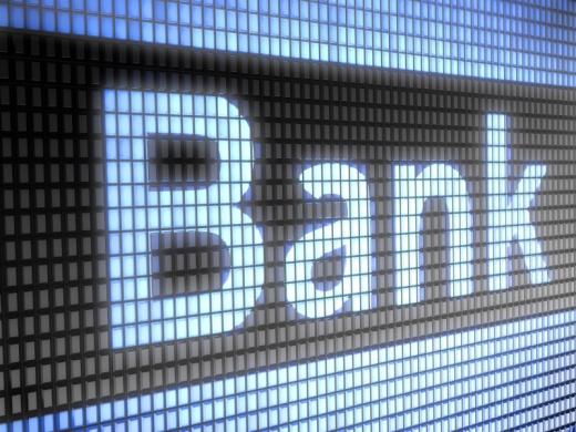 Egy kijelzőre ráközelítve BANK felirat van.