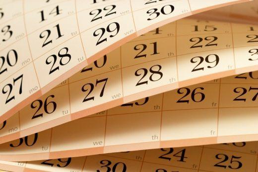 Egy naptár lapjai