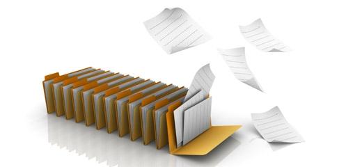 Egy rendszerező kartotékrendszerb, melyen magától elrepülnek a benne lévő lapok
